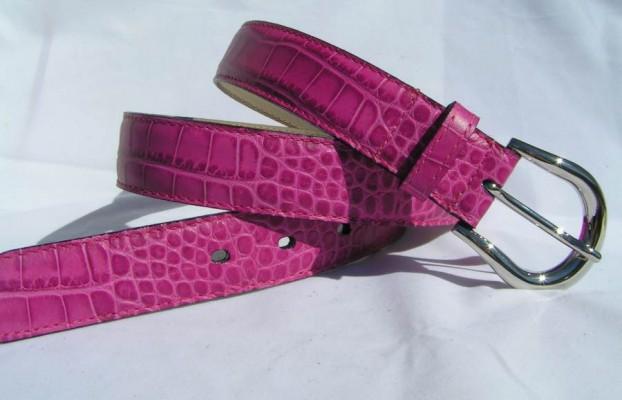 8c8661899f2849 Pinkfarbener Damengürtel 3 cm breit