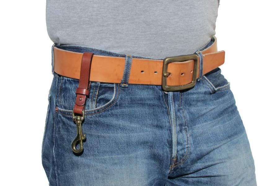 Toller Jeansgürtel 4,5 cm breit in Rindleder naturfarbe
