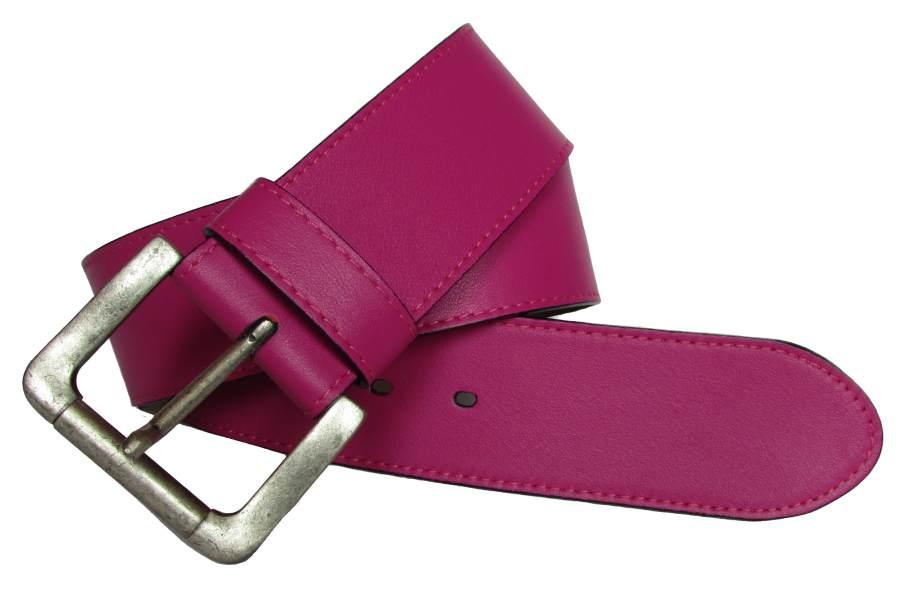 Pink Damengürtel rund 6 cm
