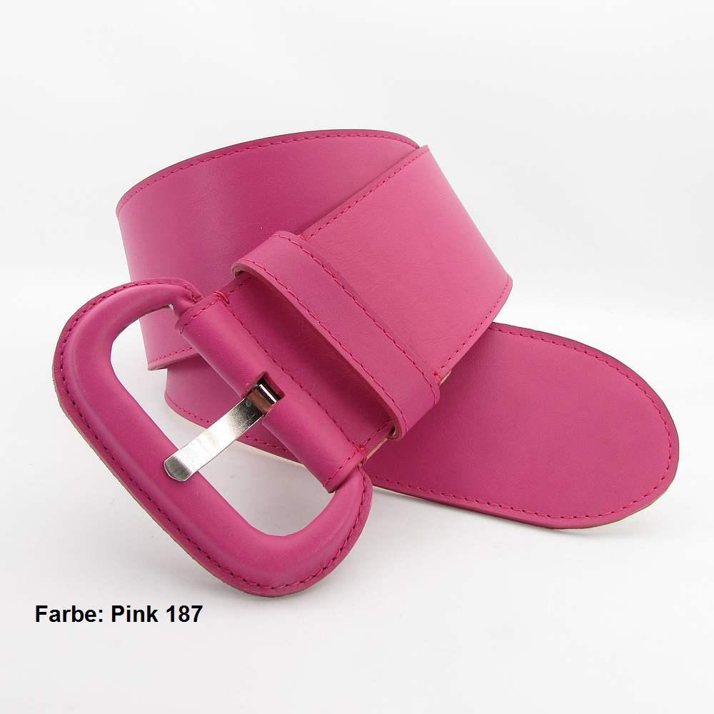 Pinkfarbener Damengürtel 8 cm breit