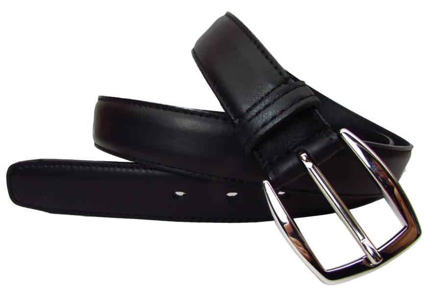 Schwarzer Herrengürtel mit hochwertiger Nickelfreier Gürtelschnalle 1